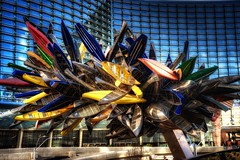 Canoes (wbeem) Tags: travel winter urban sculpture usa color building art glass metal daylight nikon day cloudy lasvegas outdoor nevada fineart william architectural canoe citycenter watercraft hdr beem photomatix tonemapped nikonnikkor niksoftware d700 tonalcontrast viveza vdara anythingdigital glamourglow wbeem 2470mmf28g darkenlightencenter procontrast sharpenerpro30 colorefx30 williambeem