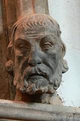 Corbel head. St. Botolph, Farnborough