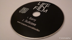 free CD I got after Life In Film's concert at l'International, Paris