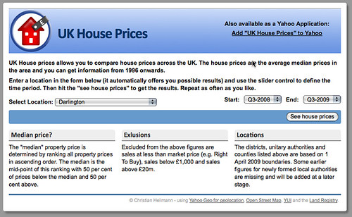 UK House Prices - without JavaScript by  you.