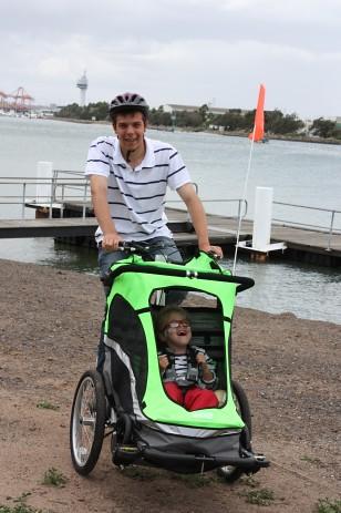 Zigo Leader carrier bike essay winner in australia on the beach