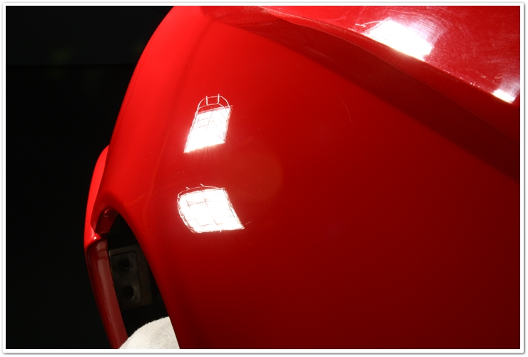 Ferrari 355 GTS paintwork after detail