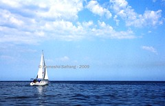 Sailboat on the Aegian sea (From Afghanistan With Loveّ) Tags: world travel sea sky clouds sailboat turkey boat 2009 izmir zeerak aegian safrang hamesha javaid kucadesi