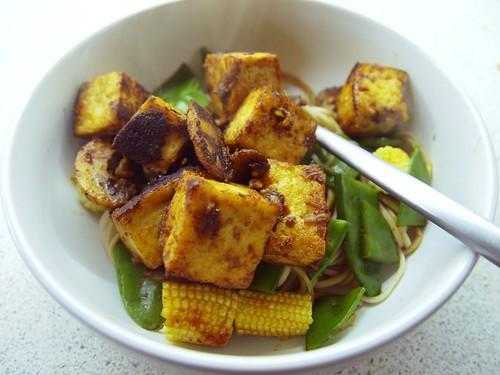 crispy miso tofu