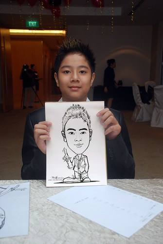 caricature live sketching for birthday party 220110 - 1