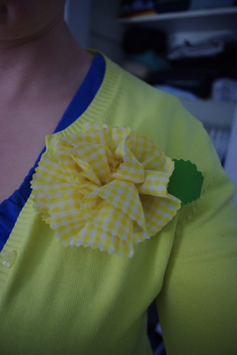 Gingham Brooch