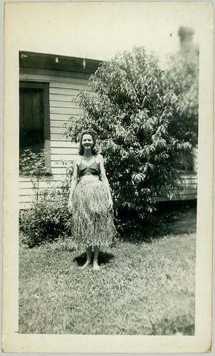 Girl in a grass skirt