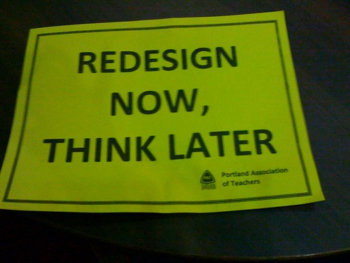 Redesign Now, Think Later