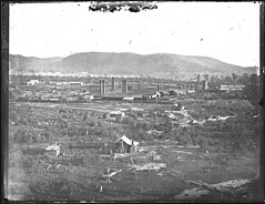 [Ironworks, Lithgow, NSW, 1885] (Cultural Collections, University of Newcastle) Tags: iron australia nsw 1885 lithgow lithgowironworks ralphsnowball snowballcollection ralphsnowballcollection asgn0872b39 newcastleregionnswhistorypictorialworks photographynewsouthwalesnewcastle