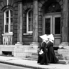 Sisters Sailing the Seven Seas (amarcord108) Tags: canada nun 1967 quebeccity legacy scannednegative 1200dpi rollieflex stealingshadows amarcord108 absolutegoldenmasterpiece miasbest daarklands nunhabit flickrvault trolledproud crazygeniuses epsonv600 exoticimage daughtersofcharityofsaintvinentdepaul