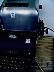 Letters To You -- Finch (fueledbyabbey) Tags: typewriter out with toaster little like pals hangin brave sittin