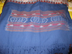 AAL AND INDIGO DYED COTTON SCARF - by RubyGoes
