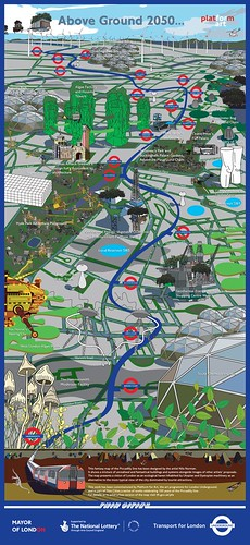 London in 2050 (by: Nils Norman for London Transport via Strange Maps)