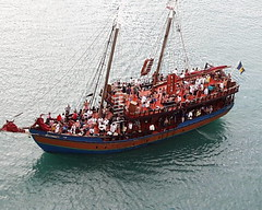 """Pirate"" ship at Barbados"