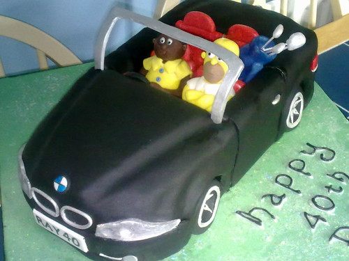 BMW Convertible car cake