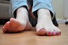 Perspective (Artistic Feet) Tags: pictures pink colour cute feet girl female asian foot three model pretty purple bright artistic bare small curves smooth polish arches pale size jeans nails photographs barefoot heels soles petite ankles feminin