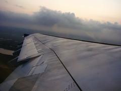 Early Morning Departure (DSC01243) (Passenger32A) Tags: travel cloud window plane airplane thailand flying inflight airport bangkok aircraft flight wing airbus windowview bkk 2010 wingtip windowseat veiw thaiairways a300 suvarnabhumi