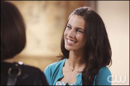 20100207 90210 Adrianna Smiling blue cardi
