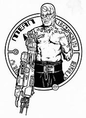 Who`s the meanest  machine of them all? (robokwiz) Tags: fanart scifi 2000ad judgedredd meanmachine moviecharacters biopunk britcomics angryandroids bionicart
