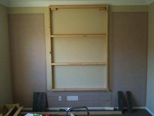 View Topic False Wall To Hang TV Off Home Renovation - Tv false wall