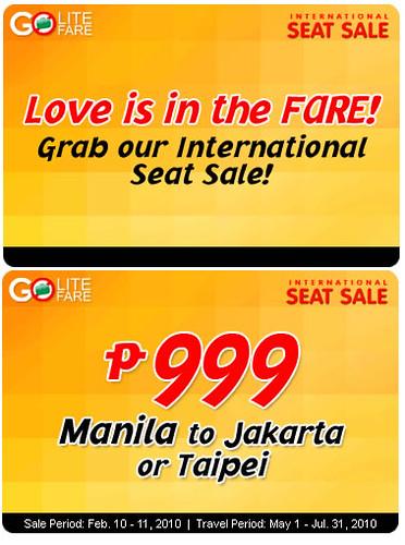 cebu pacific love is in the fare