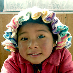 little Maria (acciderbolina) Tags: baby titicaca smile child sweet maria per sorriso bellezza peruvian blackeyes bambina occhineri peruvianimages