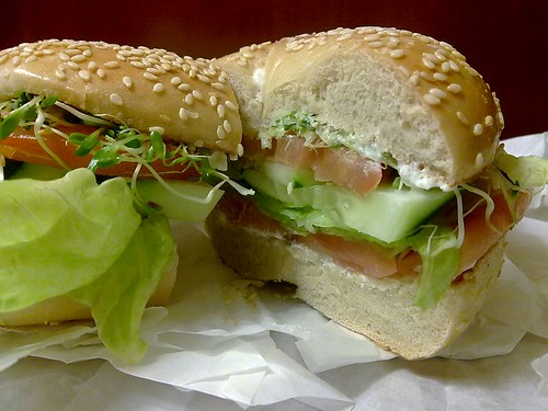 Bagel and Lox Sandwich