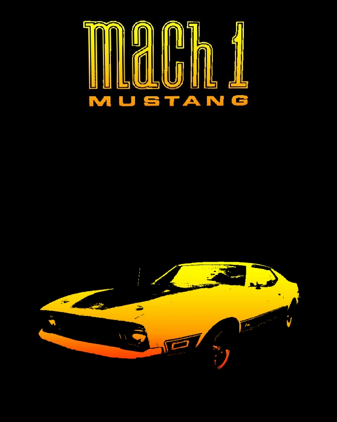 coche FordMustangMach1 poster