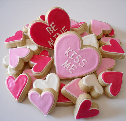 Mini Heart Decorated Valentine Cookie