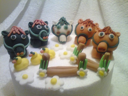 handmade edible farm animals cake topper