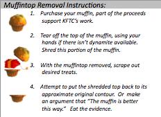 Muffin top removal instructions