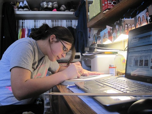 studying  by English106, on Flickr