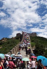 The Great (Crowded) Wall (PaleFires) Tags: china summer people umbrella beijing badaling crowded thegreatwall thegreatwallofchina