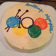 knitting olympics cake