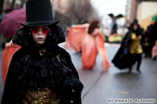 Foto realizada por el fotógrafo Vicente Alfonso en los carnavales de Navalmoral de la Mata del 2010