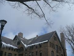 49. (megnificent!) Tags: dormitory icicles talcott bitsofblue
