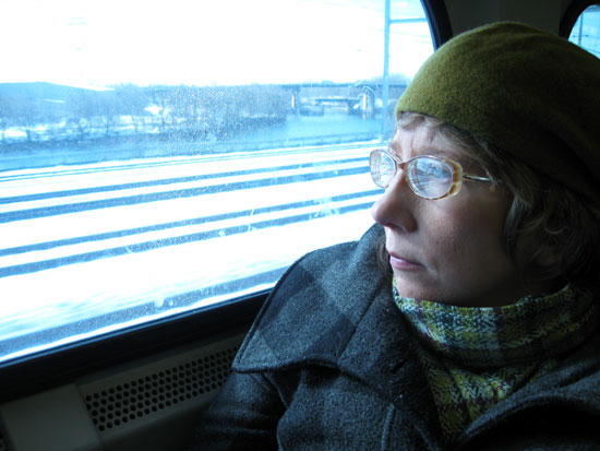 Alyce on the Train