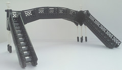 Station Footbridge (bricktrix) Tags: bridge station train lego footbridge steam legotrain legobridge legofootbridge