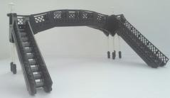 Station Footbridge (bricktrix) Tags: bridge station train lego footbridge steam legotrain legobridge legofootbridge