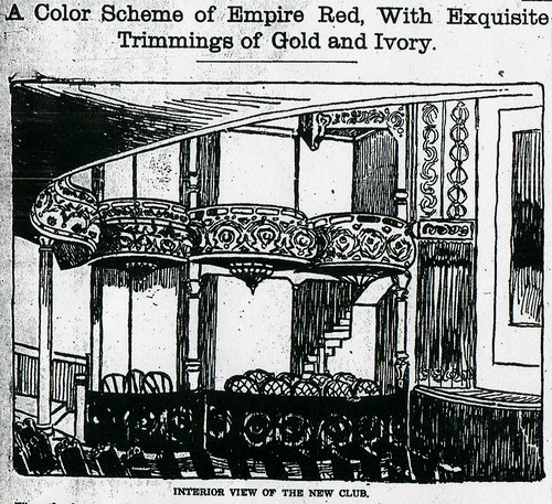 Interior illustration of Club Theater