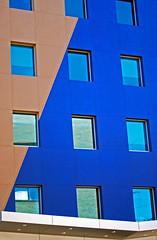 Windows & Wall (WhiPix) Tags: blue windows reflection philadelphia wall buildings drexel colorphotoaward