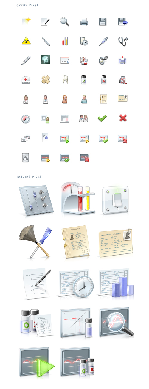 Free Medical Icons Set (60 Icons)