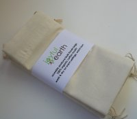 ~green grocer~  <br> set of 5 organic muslin produce bags