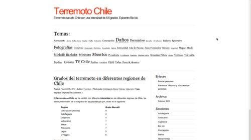 sitio terremoto chile