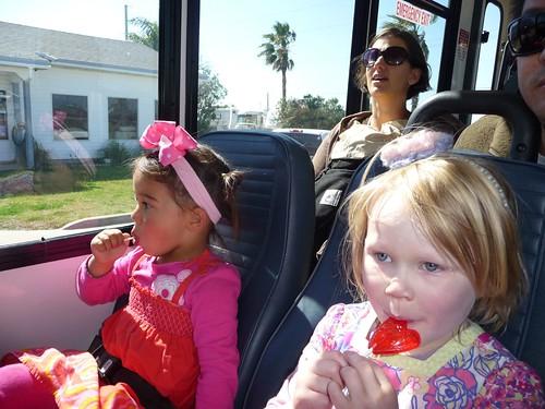 lollipops on trolley.