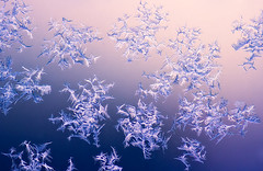 Ice Crystals On The Window (Joni N) Tags: pink blue winter snow ice window colorful crystals purple pentax vivid gradient sigma105 k10d pentaxk10d