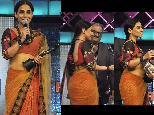 Vidya Balan with the Best Actress Award