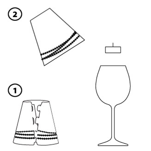 como fazer um abajur de vinho