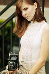 Downtown (Jyrkalypse) Tags: camera portrait woman girl fashion vintage caonon