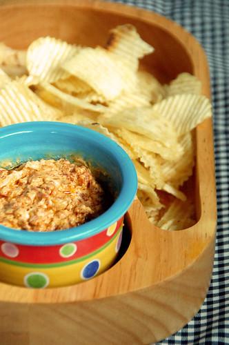 Cheesy chorizo dip